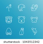 zoo icon set and bear with...