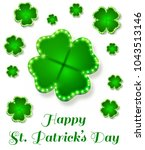 st. patrick's day background in ... | Shutterstock .eps vector #1043513146