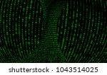 torus core with green digital... | Shutterstock . vector #1043514025