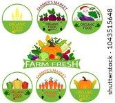 set of  vegetables logo... | Shutterstock .eps vector #1043515648