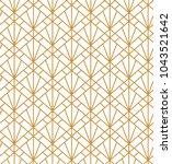 geometric vector seamless... | Shutterstock .eps vector #1043521642