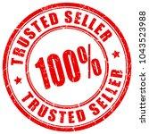 trusted 100 seller rubber... | Shutterstock .eps vector #1043523988