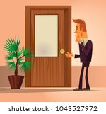 confusion office worker man... | Shutterstock .eps vector #1043527972