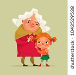 happy smiling grandmother and... | Shutterstock .eps vector #1043529538
