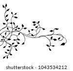 ivy vine silhouette vector ... | Shutterstock .eps vector #1043534212