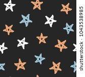 randomly scattered stars... | Shutterstock .eps vector #1043538985