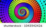 vector iridescent spiral... | Shutterstock .eps vector #1043542426