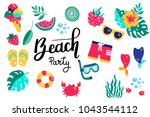 summer lettering. set hand...   Shutterstock .eps vector #1043544112
