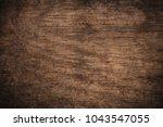old grunge dark textured wooden ... | Shutterstock . vector #1043547055