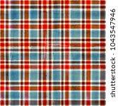watercolor blue red brown... | Shutterstock . vector #1043547946