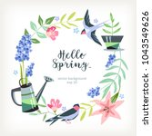 background hello spring summer... | Shutterstock .eps vector #1043549626
