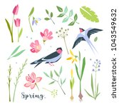 nature spring summer objects... | Shutterstock .eps vector #1043549632