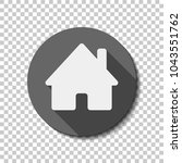 house icon. white flat icon... | Shutterstock .eps vector #1043551762
