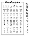 laundry vector icons set  full... | Shutterstock .eps vector #1043553436