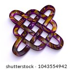 Stock photo paper art quilling celtic knot filigree background sweet d render papercraft celt concept 1043554942