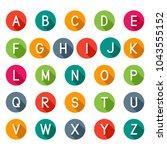 flat icons alphabet  latin... | Shutterstock .eps vector #1043555152