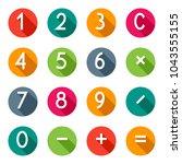 calculator buttons in flat... | Shutterstock .eps vector #1043555155