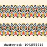 ikat geometric folklore... | Shutterstock .eps vector #1043559316