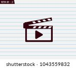 movie clap   vector icon on a... | Shutterstock .eps vector #1043559832