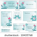 reception card set 6. to see... | Shutterstock .eps vector #10435768