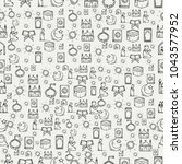 islamic icons seamless pattern. ... | Shutterstock .eps vector #1043577952
