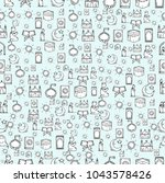 islamic icons seamless pattern. ... | Shutterstock .eps vector #1043578426