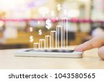 business analytics and online... | Shutterstock . vector #1043580565