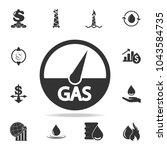 Gas Indicators Icon. Detailed...