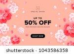 vector sale background design... | Shutterstock .eps vector #1043586358