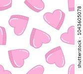 heart seamless doodle pattern | Shutterstock .eps vector #1043605078