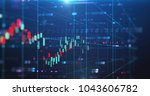 financial stock market graph... | Shutterstock . vector #1043606782