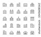 mini icon set   building icon... | Shutterstock .eps vector #1043608162