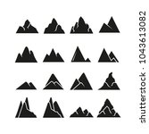 mountain icons set | Shutterstock .eps vector #1043613082