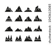mountain icons set | Shutterstock .eps vector #1043613085