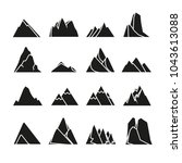 mountain icons set | Shutterstock .eps vector #1043613088