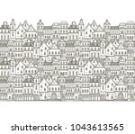 seamless vector border pattern... | Shutterstock .eps vector #1043613565