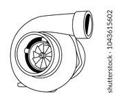 cartoon turbo illustration   Shutterstock .eps vector #1043615602
