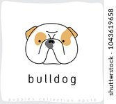 bulldog   dog breed collection  ... | Shutterstock .eps vector #1043619658