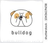 bulldog   dog breed collection  ... | Shutterstock .eps vector #1043619658