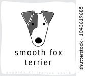 smooth fox terrier   dog breed... | Shutterstock .eps vector #1043619685