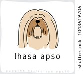lhasa apso   dog breed... | Shutterstock .eps vector #1043619706
