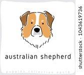 australian shepherd   dog breed ... | Shutterstock .eps vector #1043619736