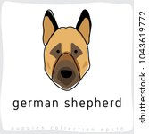 german shepherd   dog breed... | Shutterstock .eps vector #1043619772