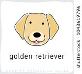 golden retriever   dog breed... | Shutterstock .eps vector #1043619796