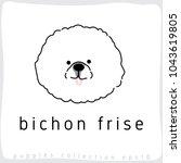 bichon frise   dog breed... | Shutterstock .eps vector #1043619805