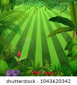 lighting jungle background | Shutterstock .eps vector #1043620342
