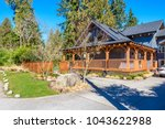 luxury house in vancouver ... | Shutterstock . vector #1043622988