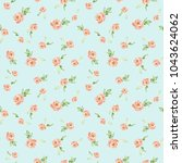 watercolor floral background... | Shutterstock . vector #1043624062