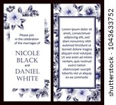 invitation with floral... | Shutterstock .eps vector #1043633752