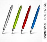 set of pens  different for... | Shutterstock .eps vector #1043647858